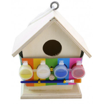 Art And Craft Paint Your Own Wooden Birdhouse Nature Activity For Children ~ Wood Bird House Kit