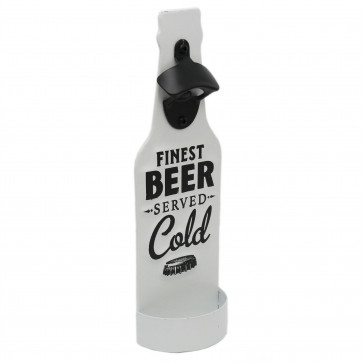Metal Wall Mounted Beer Bottle Opener With Cap Catcher Home Bar Drinks Accessory - Finest Beer