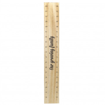 100cm Children's Wooden Height Chart   Kids Growth Chart Children's Room   Kids Bedroom Accessories - Our Growing Family