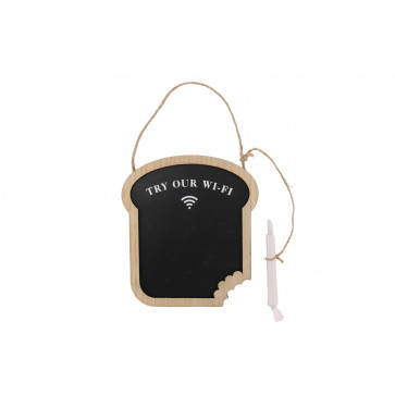 Novelty Bread Toast Kitchen Wi - Fi Code Plaque Chalkboard Sign - Try Our Wi-Fi