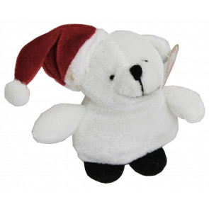 Christmas Plush Soft Toy Bear 9cm ~ Xmas Plush Polar Bear