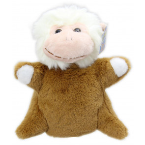 Snuggle Pals Childrens Soft Plush Animal Hand Puppet Toy ~ Monkey