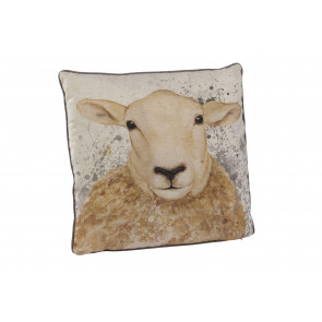 Country Sheep Print Fabric Sofa Scatter Cushion With Cover - Animal Bed Throw Pillow