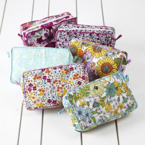 Chelsea Large Multipurpose Washbag ~ Deluxe Floral Cosmetic Travel Wash Bag -