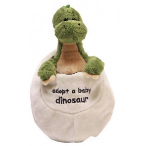 Adopt A Dinosaur In An Egg Plush Soft Toy Baby Apatosaurus ~ Green Apatosaurus