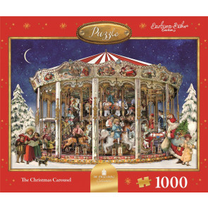 Deluxe Christmas Jigsaw Puzzle 1000 Piece - Christmas Carousel