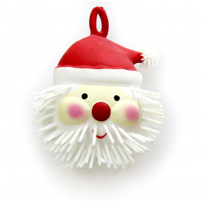 Light Up Father Christmas Puffer Ball Squishy Stress Reliever Squeeze Toy ~ Santa Claus