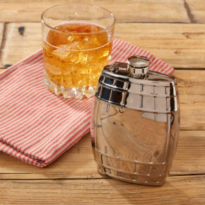 Lock Stock And Barrel Shaped Stainless Steel 7oz Drinking Hip Flask