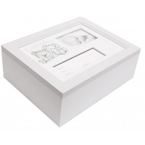 Baby Milestone Keepsake Box ~ Beautiful Wooden Memory Storage Cube