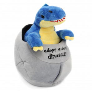 Adopt A Dinosaur In An Egg Plush Soft Toy Baby Tyrannosaurus Rex ~ Blue T Rex