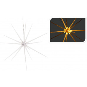 Light Up 3D Christmas Star Hanging Decoration With 14 Warm White LED Lights