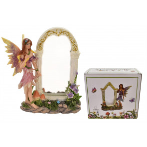 Freestanding Miniature Fairyland Fairy With Mirror ~ Colour Vary