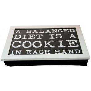 Vintage Quote Lap Tray ~ 43cm x 32cm White Laptray With A Bean Bag Base