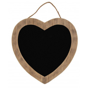 Round Wooden Hanging Heart Blackboard ~ Wooden Heart Kitchen Chalkboard