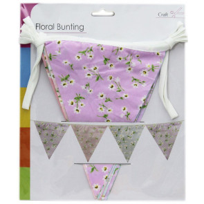 9 Flag Vintage Floral Fabric Bunting 2.5M