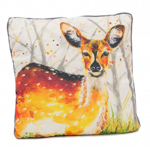 Beautiful Deer Scatter Cushion | Fabric Filled Sofa Cushion | Bed Throw Pillow With Cover - 45cm