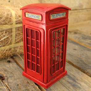 Metal Telephone Box Money Box