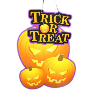 Haunted House Scary Halloween Door Hanger ~ Trick Or Treat