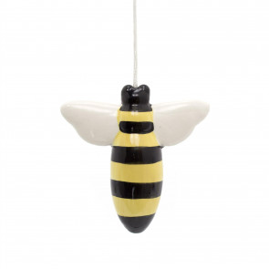 Glazed Ceramic Honey Bee Bathroom Pull Cord Light Switch | Toilet Light Pull Cord | Bumblebee Blind Pull Cord Ends