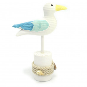Lovely Wooden Seaside Seagull Ornament ~ Sea Bird Nautical Decoration
