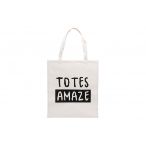 Totes Amaze Cotton Shopper Tote Bag Reusable Carrier