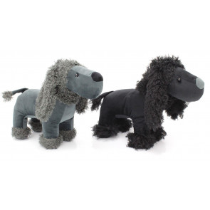 Poodle Fabric Doorstop ~ Adorable Animal Dog Door Stop