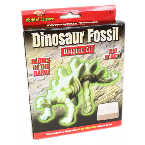 World Of Science Glow In The Dark Dinosaur Fossil Digging Kit Palaeontology Set