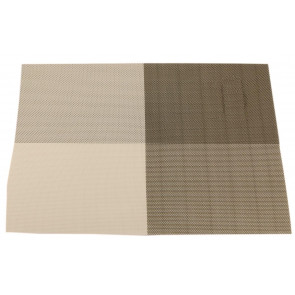 Wipe Clean PVC Woven Dining Table Place Mat Single - Gold Placemat