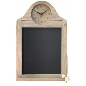 Shabby Chic Wooden Driftwood Blackboard With Clock