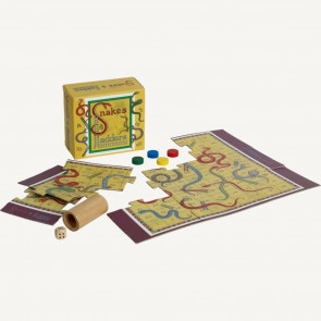 Traditional Retro Toys Mini Vintage Board Games ~ Snakes And Ladders