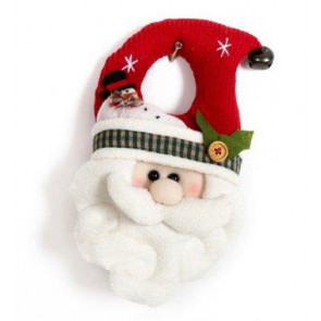 Fabric Father Christmas Santa Door Hanger Decoration
