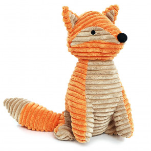Chunky Ribbed Orange Brown Decorative Fox Animal Novelty Doorstop
