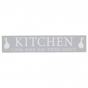 50cm Wooden Kitchen Plaque | Wall Hanging Sign Duck Wall Art | Shabby Chic Home Accessories
