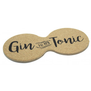 Novelty Gin Cork Double Drinks Coaster ~ Cup Mug Table Mat