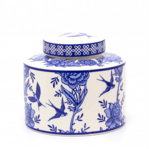 Chinese Style Blue And White Porcelain Ginger Jar   Ceramic Decorative Jars   Oriental Spice Storage - 12cm - Design Varies One Supplied
