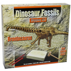 Dig Out Dinosaur Skeleton Fossil Paleontology Archaeology Excavation Kit For Kids ~ Brontosaurus