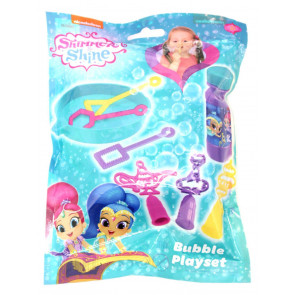 Shimmer and Shine 8 Piece Bubble Blowing Play Set Includes Bubble Solution