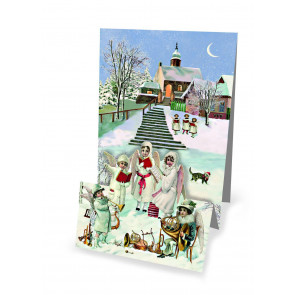 Mini Advent Calendar Christmas Card - Christmas Panorama - Angelic Carol