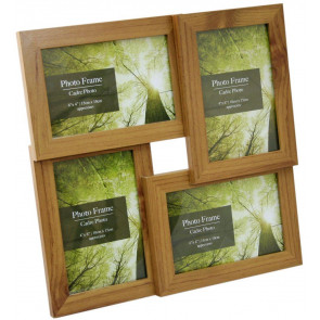 4 Multi Wood Effect Photo Frame