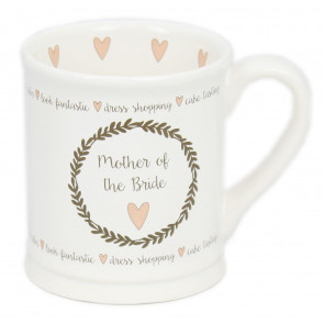 Large White China Glazed Ceramic Mug For Tea And Coffee Wedding Favour Gift ~ Mother Of The Bride