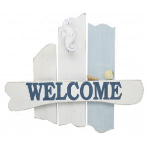 Wooden Welcome Hanging Sign ~ Nautical Decoration, Home Decor Sign