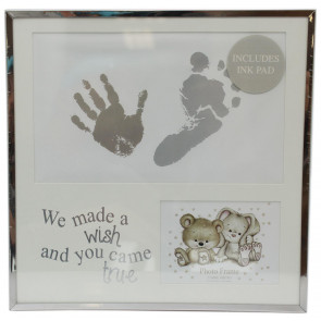 Adorable New Baby Hand And Foot Print Photo Picture Keepsake Frame