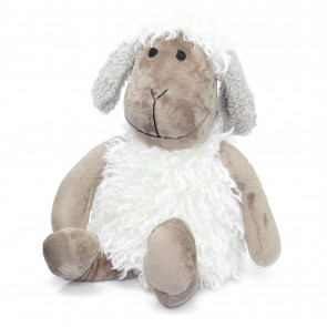 Cute Woolly Sheep Fabric Doorstop - Novelty Animal Door Stop - Grey Ear