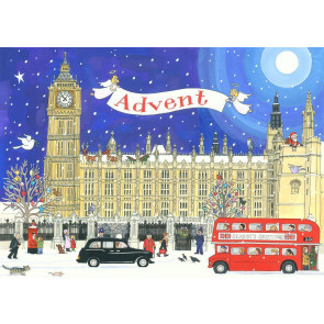 Large Deluxe Traditional Card Advent Calendar - Palace of Westminster