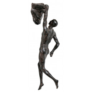 Stunning Resin Sculpture Rock Climbing Man Wall Art ~ Hanging Decoration Straight Legs
