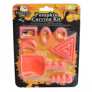 Haunted House 10 Piece Jack O'Lantern Halloween Pumpkin Carving Set