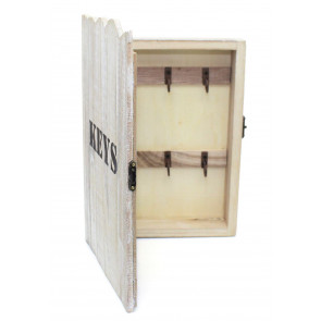 Shabby Chic Wooden Wall Mounted Key Organiser Cabinet Storage Box