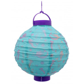 Pretty Mermaid Paper Lantern Balloon With Led Light Hanging Decoration ~ Blue