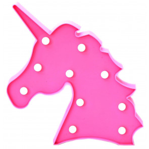 Unicorn LED Night Light Kids Mood Lighting Wall Hanging Decoration - Pink