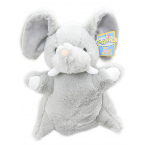 Snuggle Pals Childrens Soft Plush Animal Hand Puppet Toy ~ Elephant